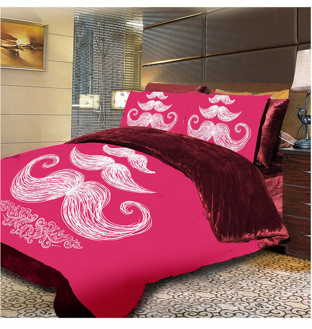Mustache Designer Bed Sets Twin Queen King Size Duvet Cover Duvet Cover Fitted  Sheet Sets Hot