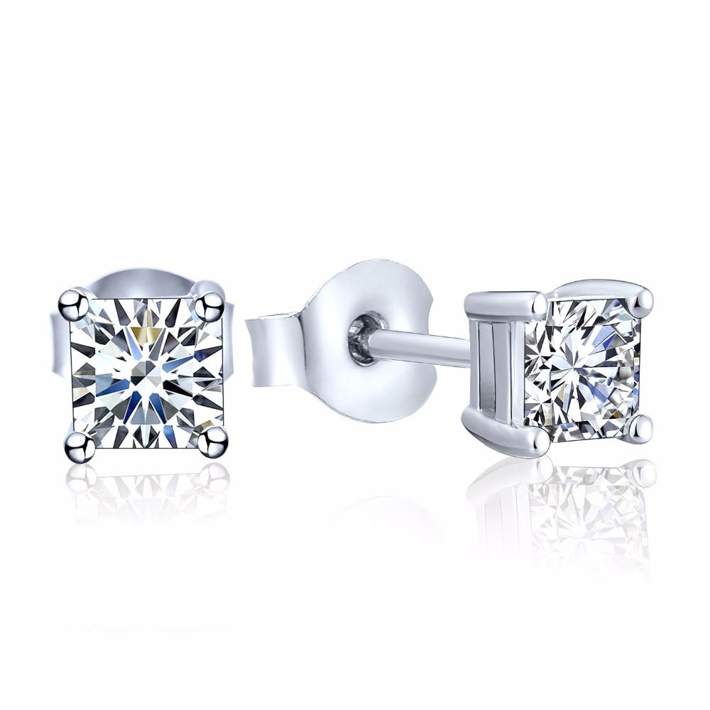 925 sterling silver stud earrings square NE02300B (1)