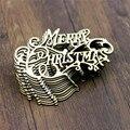 Набор из 10 рождественских букв деревянные детали бирки рождественские украшения DIY ремесло
