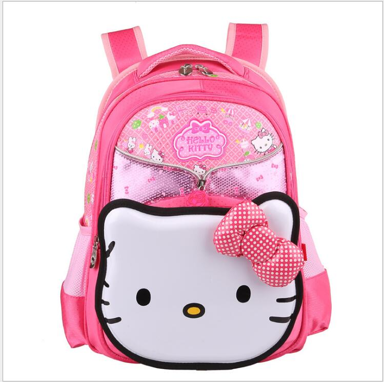 Hello Kitty Children School Bags For Girls Kids Schoolbag Cartoon Kids School Backpacks PInk Double Shoulder Mochila Infantil