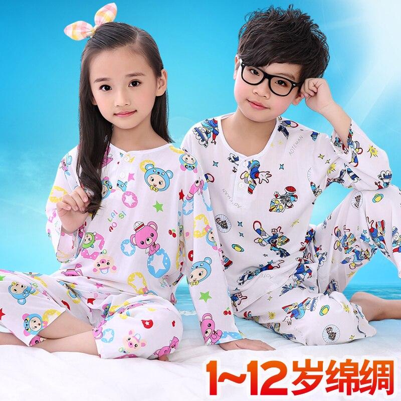 Летняя детская одежда для девочек пижамный комплект из хлопка пижамы Обувь для девочек Детская домашняя одежда комплект 2 шт. пальто + Брюки ...