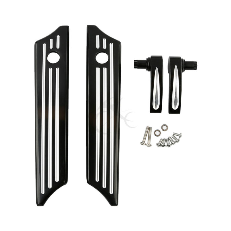 Black CNC Billet Saddlebag Latch Covers Lid Lifters For Harley Touring Road Street Glide 14-17 2014-2017 FLHR FLHT FLHX for harley softail fxdwg dyna wide glide 1993 2008 flhr flt flht dresser 1980 2008 diamond billet aluminum black shift linkage