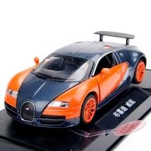 Мини Многоцветный Красный/Оранжевый 1:32 Bugatti Veyron Сплава Литья Под Давлением Модель автомобиля Вытяните Назад Игрушечных Автомобилей С Свет и Звук Детские Игрушки подарки