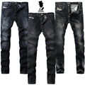 2017 Dsel Brand Mens Jeans Pants With Logo Thin Elastic Skinny G702 Slim Stong Stretch G707 Slim Ripped G709 Black Jeans Men