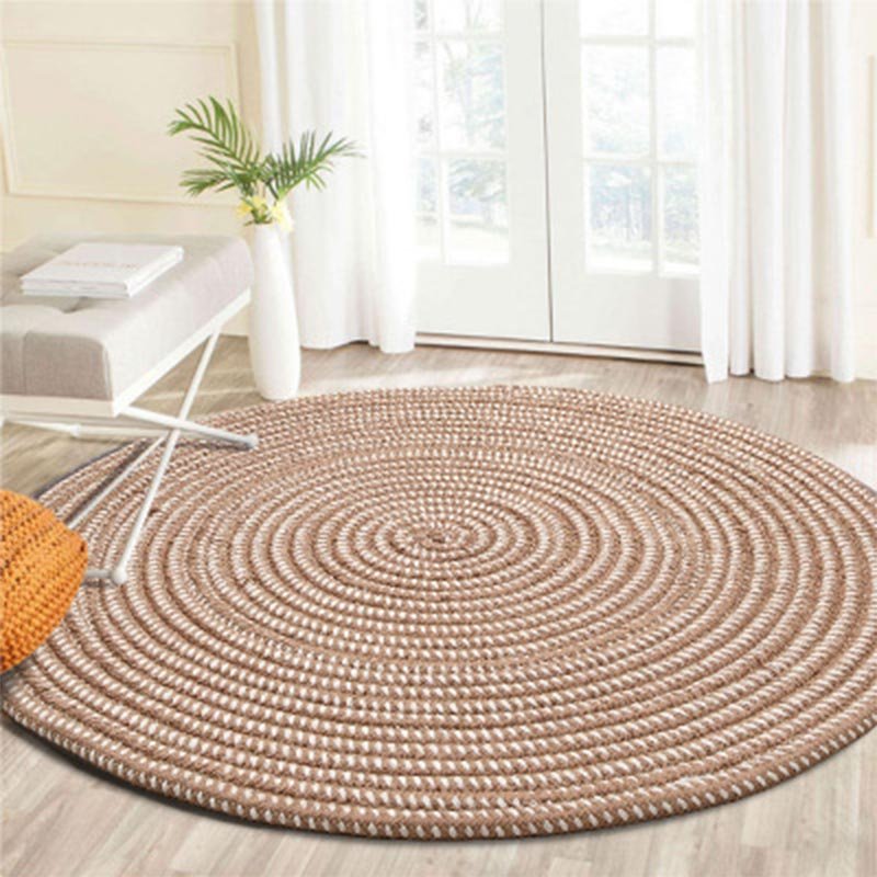 Rugs And Carpets For Home Living Room Round Modern Bedroom Hallway Jute Carpet Kids Room Computer Chair Area Rug Handmade Knit
