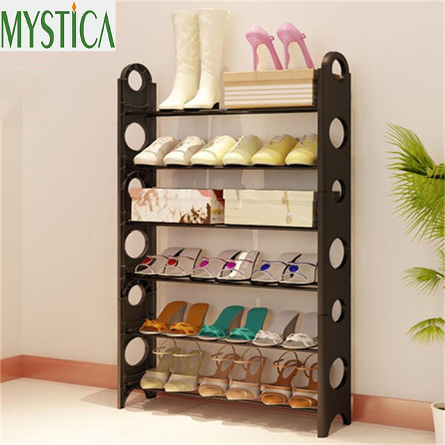 2018NEW Home Large Capacity Storage Shoe rack Space Saving Multilayer Shoe Shelf Assembling Shoe Organizer Cabinet : large shoe storage cabinet  - Aquiesqueretaro.Com