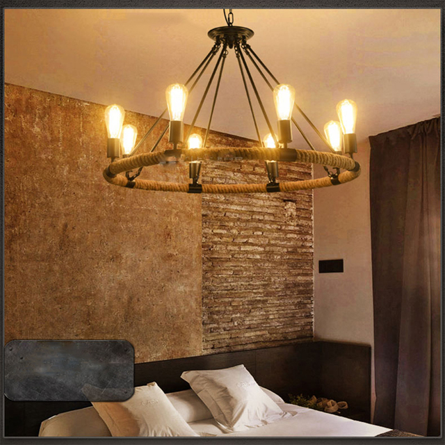 Perfect Indoor Lighting Vintage Rope Lamp Vintage Loft Lamp 110V 220V E27 Led  Pendant Light Loft Lamps