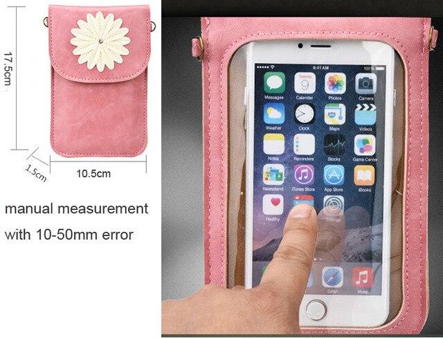 Lady Shoulder Belt Touch Screen Synthetic Leather Mobile Phone Pouch Case For Meizu MX5e/m3x/Pro 6 Plus/U20/Pro 6s/m3e/MX6/PRO 6