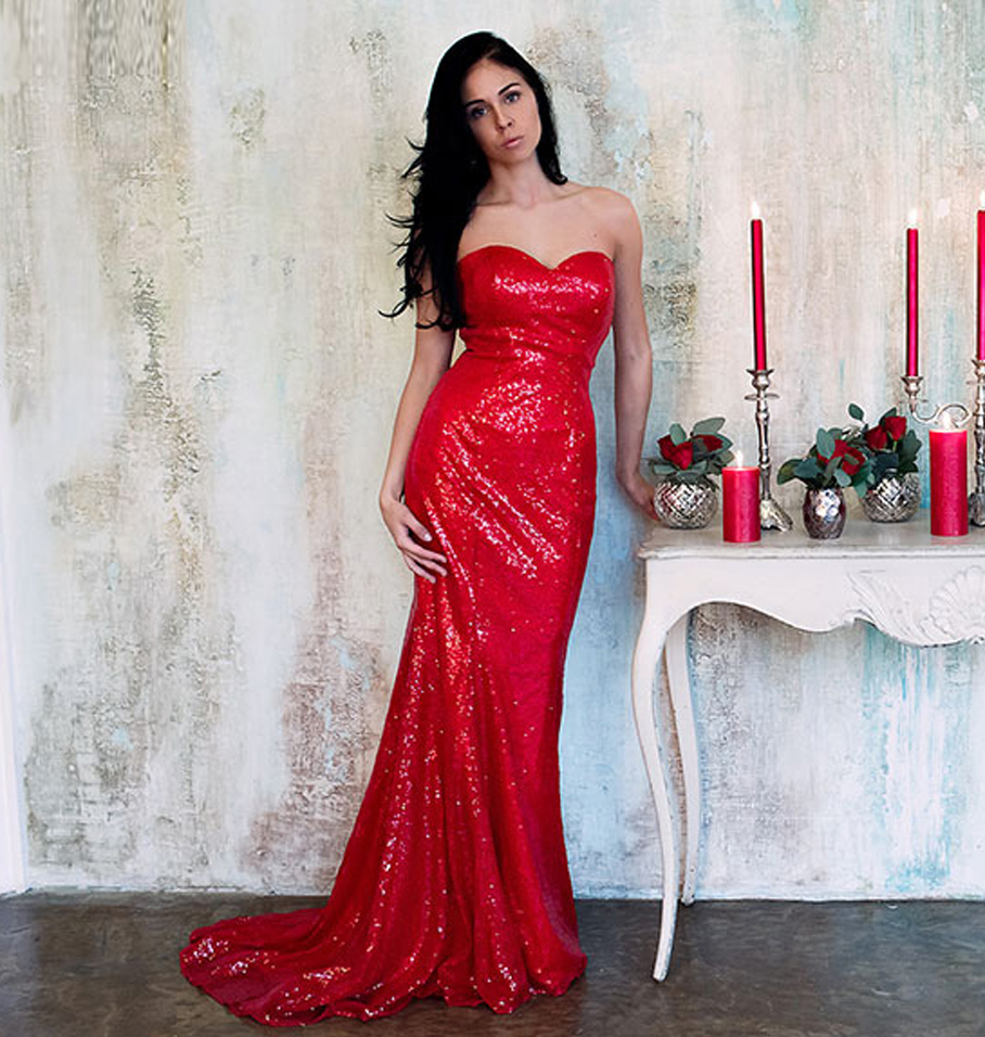 red mermaid prom dresses cheap discount evening dresses