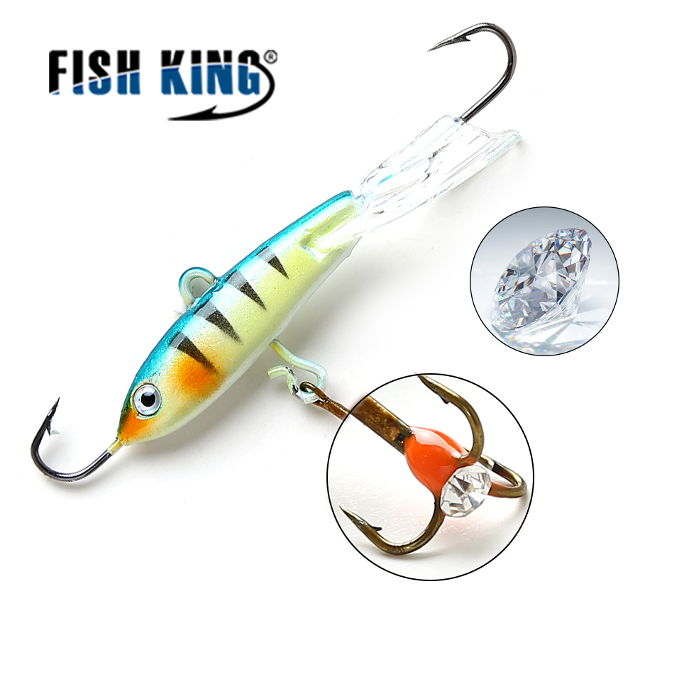 FISH KING 1PC 15G/9.3CM Ice Fishing Lures Winter Bait Hard Lure Balancer for Fishing Baits Lead Jigging 1 pack clean dry maggots for fishing high protein nutritious fish bait food winter carp fishing baits