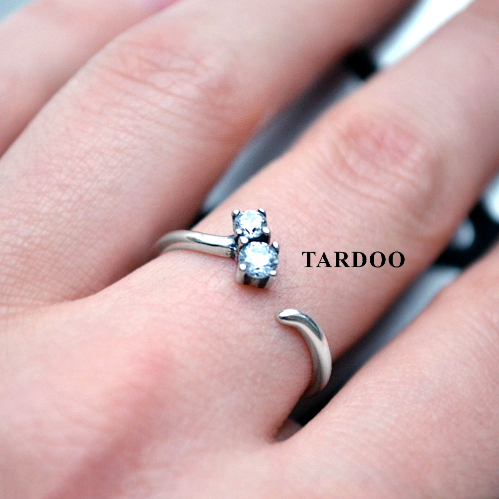 Tardoo authentic 925 sterling silver finger rings for women casual&classic style party silver 925 jewelry tardoo punk style classic silver chain necklace for women