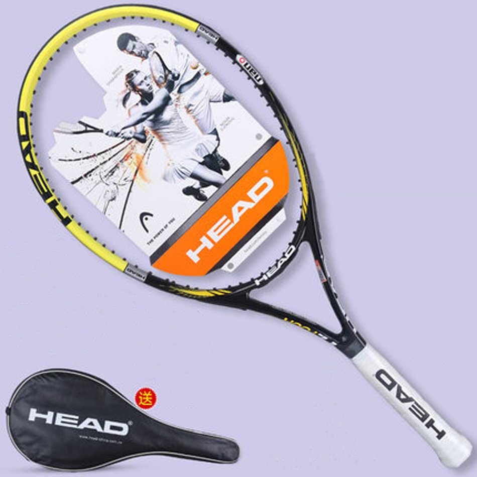Original Head L4 Tennis Racket Carbon Fiber Tennis Racket Racquet With Bag Grip Tape Tennis Racquet Men L4 Tenis Padel HEAD