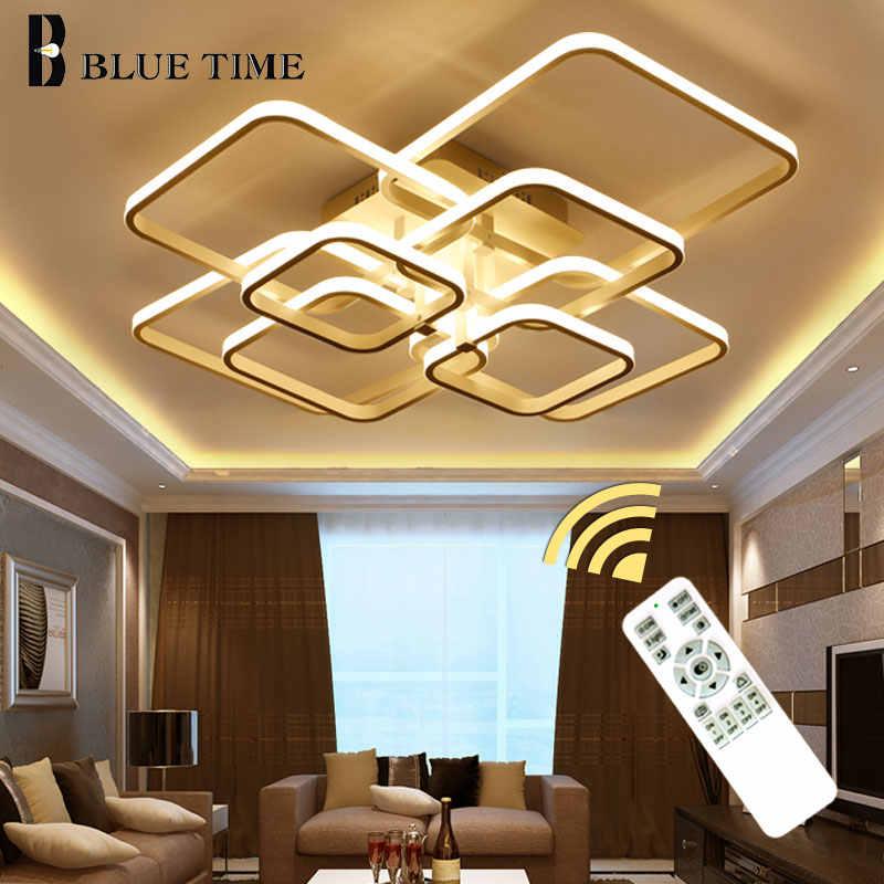 現代のledシャンデリアリビングルームダイニングルームベッドルームled lustres天井シャンデリア照明器具ブラックホワイトコーヒー