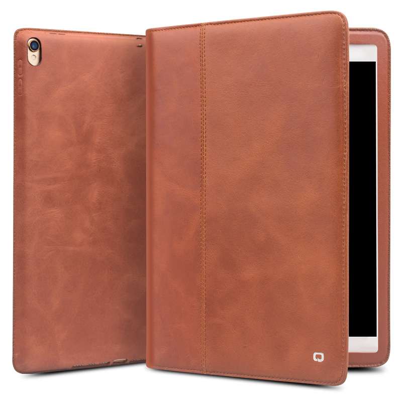 QIALINO Véritable Étui En Cuir pour iPad Pro 10.5 Mode Ultra-Mince De Luxe Flip Stents Dormance Support Housse Carte Fente 10.5 pouces