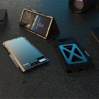 לסמסונג הערה 8 3D יוקרה מקרה גליטר הקשיח מסגרת מתכת אלומיניום + רך סיליקון שריון טלפון Flip מגן חזור Case כיסוי