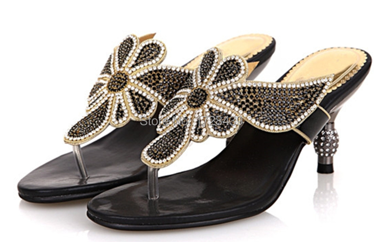 ФОТО Very nice African Women sandals Good Quality Italian style shoes with crystal, free shipping! EPG015