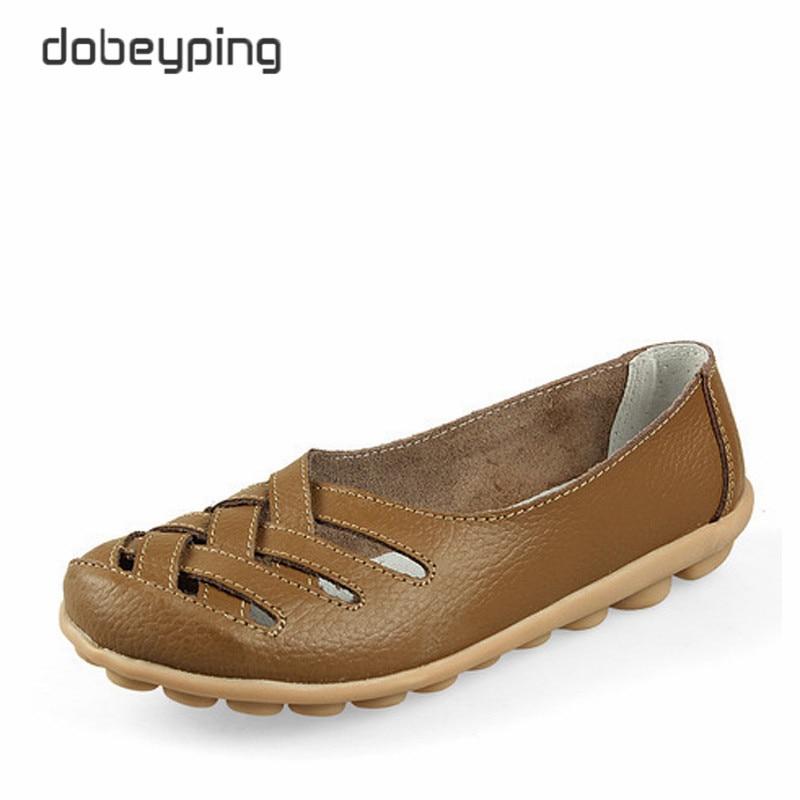 Los nuevos zapatos ocasionales de las mujeres de cuero genuino mujer - Zapatos de mujer - foto 3