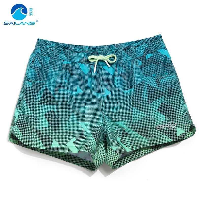 Traje de baño de damas de verano traje de baño mujer trajes de baño de secado rápido playa corta natación deportes acuáticos corriendo joggers patrón de fitness
