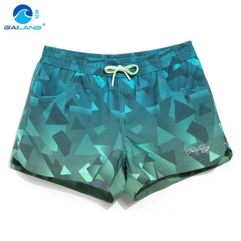 Zomer dames board shorts badmode vrouw zwemkleding sneldrogend strand korte zwemmen water sport joggen fitness patroon uitvoeren