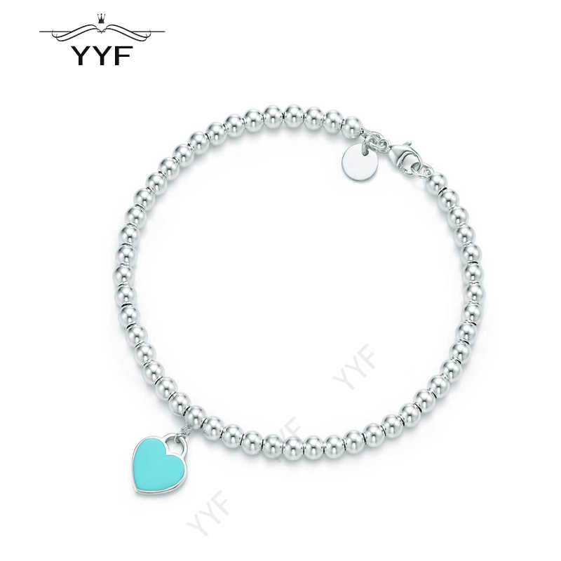 PY original 100% 1:1S925 light blue heart necklace fashion accessories TIFF suitable for Valentine's Day gift jewelry