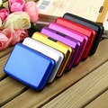 1Pc High Quality Business ID Credit Card Holder Wallet Pocket Case Aluminum Metal Shiny Side Anti RFID scan Cover Hot