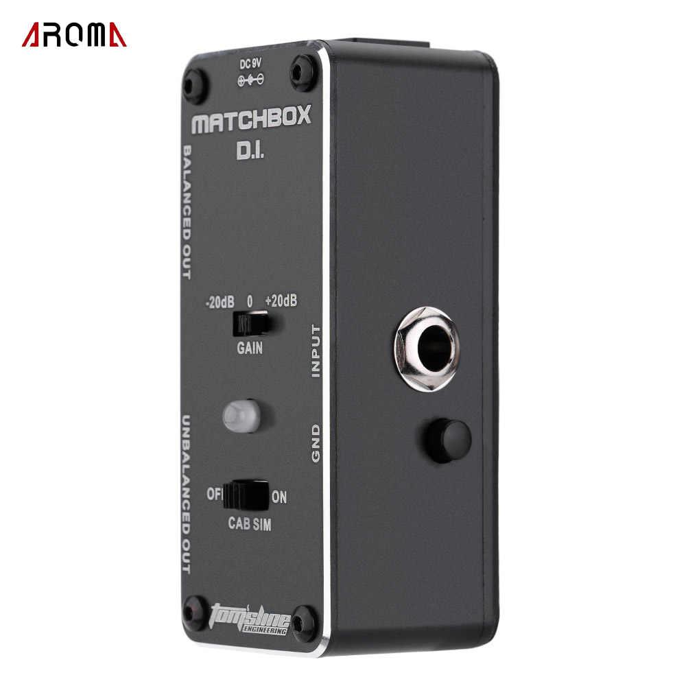 AROMA AMX-3 MATCHBOX D.I. Transfer Gitar atau Bass Sinyal Langsung ke Sistem Audio Mini Analog Effect Pedal Benar Bypass