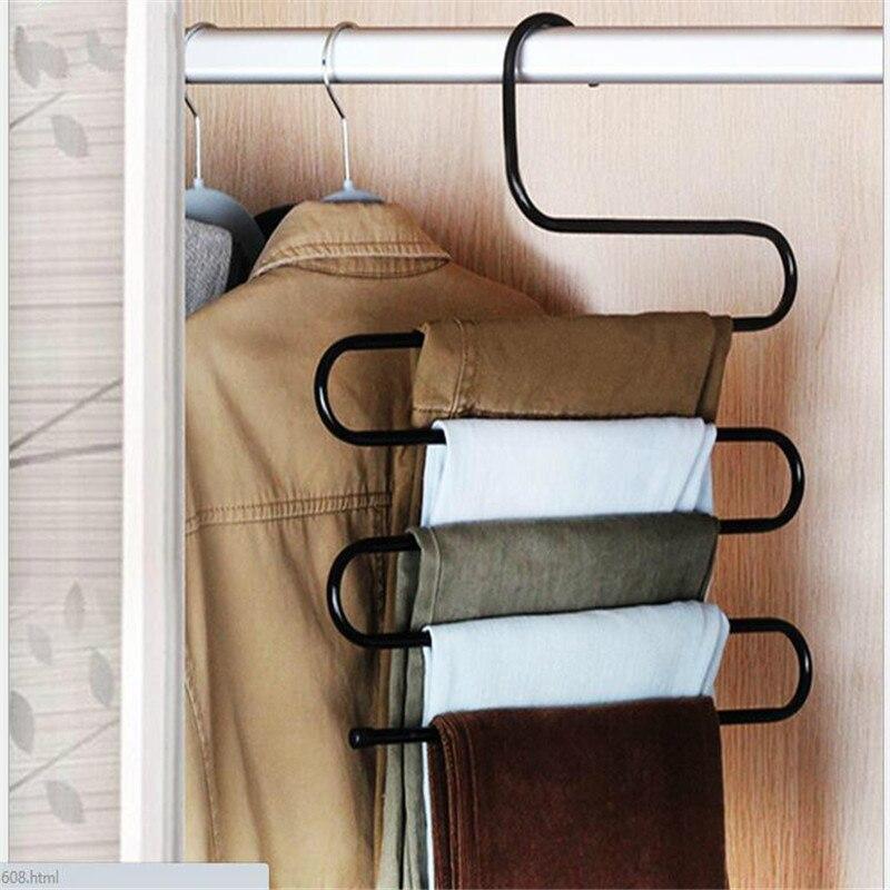 S Type Multi Function Magic Pants Hanging Hanger Rack