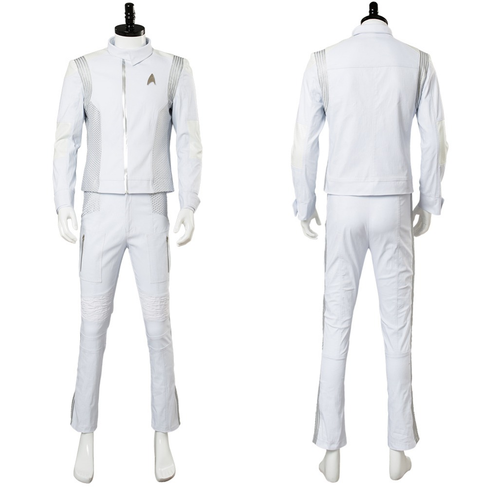 Hot Movie Star Trek Costume Discovery Dr. Nambue Cosplay Costume White Medic Adult Officer Uniform Suit Cosplay Costume