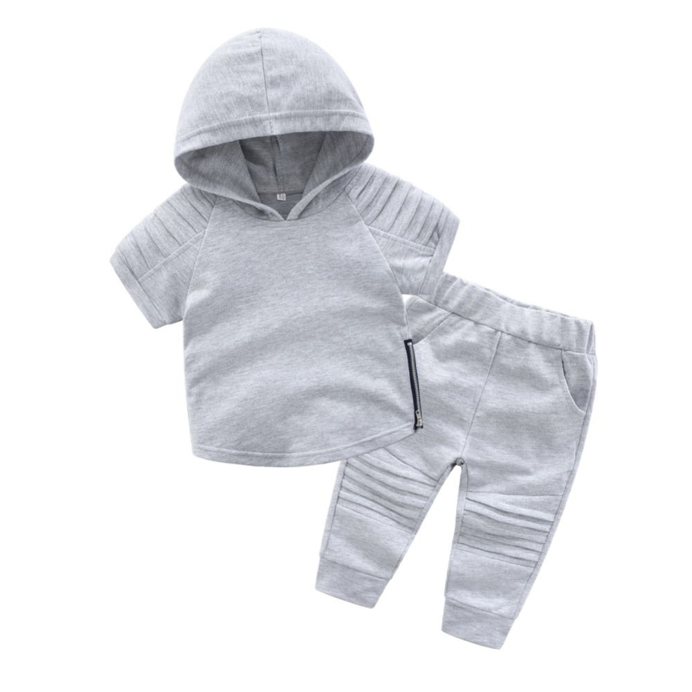 цена на Children Sets Hoodie Boys Clothes Autumn Short-sleeved Cotton suit children Two-piece/set Fashion Clothes