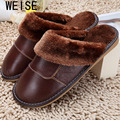 6 Colors 2015 New Genuine Leather Home Slippers  High Quality Women Men Slippers  Plush Warm Indoor  Shoes Men  Women Size 35-44