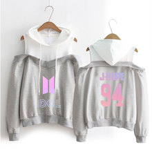 BTS IDOL Off-Shoulder Hoodie [3 colors]