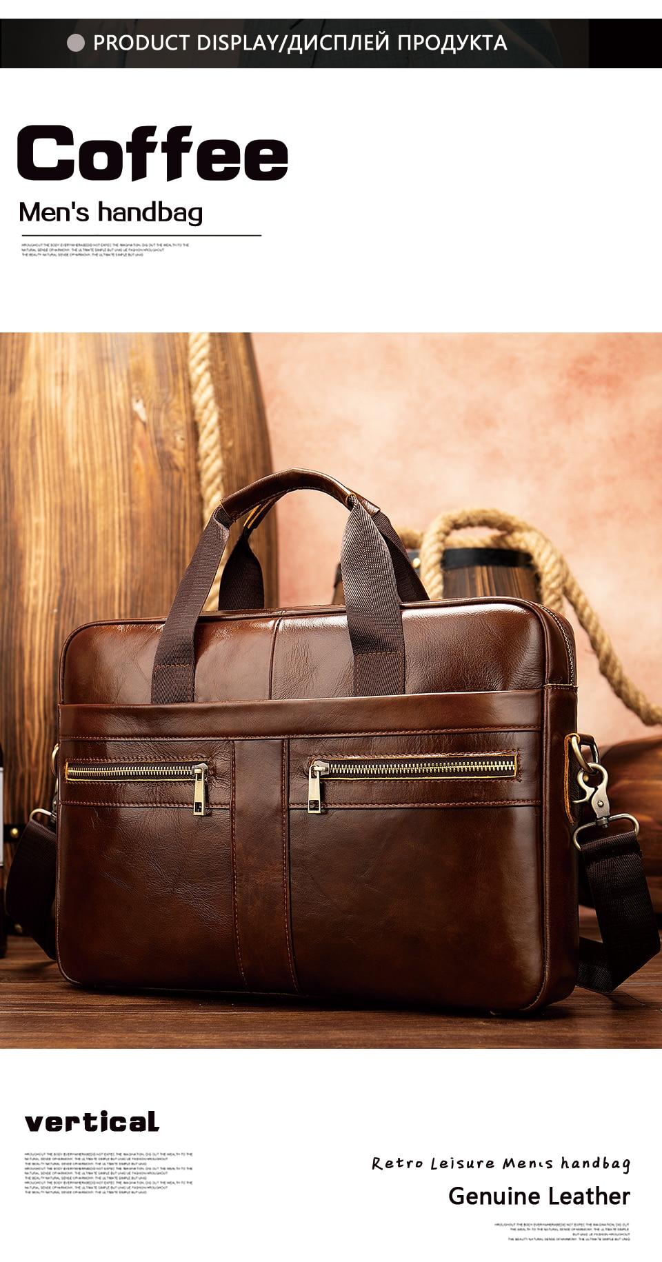 HTB1zdZDa8r0gK0jSZFnq6zRRXXai WESTAL Bag men's Genuine Leather briefcase Male man laptop bag natural Leather for men Messenger bags men's briefcases 2019