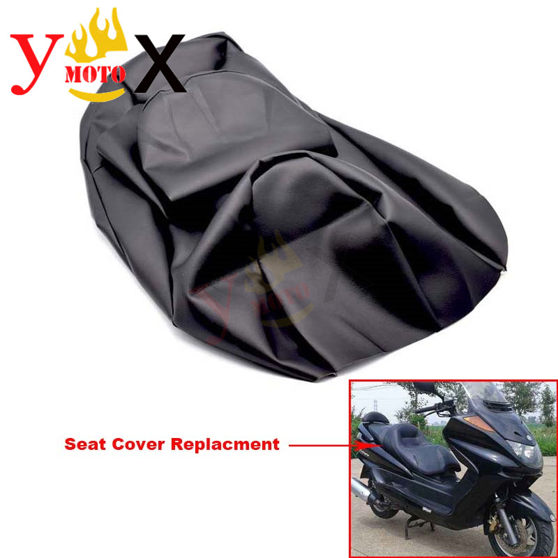 Replacement Thick Black PU Leather Scooter Bike Motorcycle Seat Cover Cushion Waterproof For YAMAHA Majesty YP250