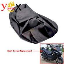 Замена толстого черного цвета из искусственной кожи, чехол на сиденье для скутера, мотоцикла, Водонепроницаемый Чехол на подушку для YAMAHA Majesty YP250 YP 250