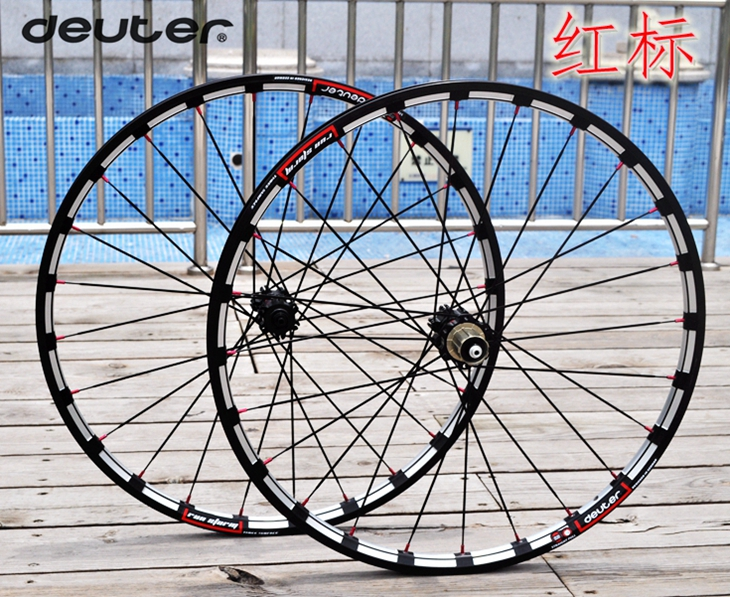 MTB bicycle wheelset CNC rim Mountain cycling Bike wheel four bearings 11 Speed Racing Six Bolts Disc wheelset mountain bike four perlin disc hubs 32 holes high quality lightweight flexible rotation bicycle hubs bzh002