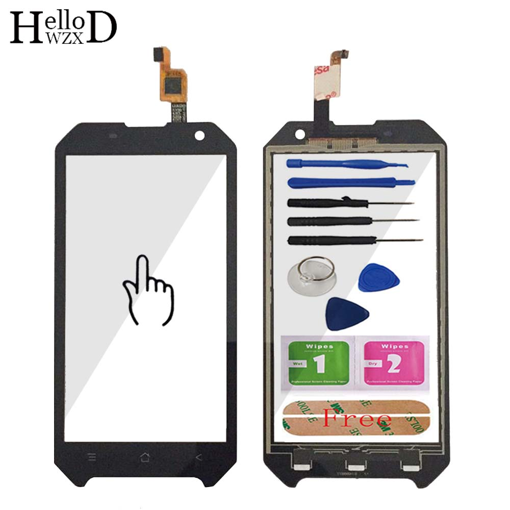 Mobile Front Touch Glass For Blackview BV6000 BV 6000 Lens Sensor Touch Screen Digitizer Panel Adhesive + Screen Protector Gift