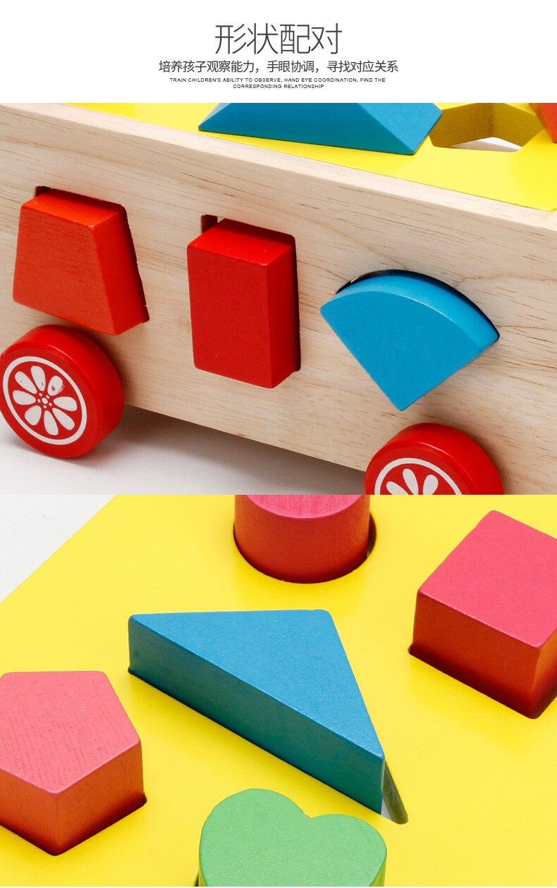 Baby Block Match Learning Educational Wood Toys 15 Holes Geometry//Digital Shape