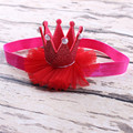 Hermosa Recién Nacido Mini Fieltro Crown Venda Elástico Para El Bebé Niñas Accesorios Para el Cabello DIY Hecho A Mano Kids Niños Diademas