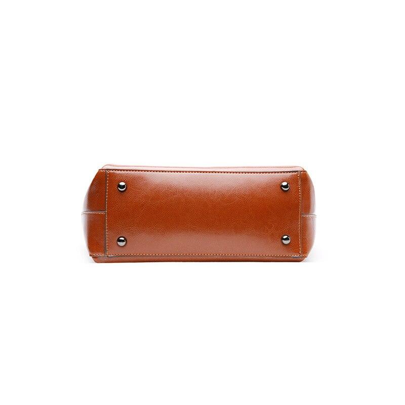DIENQI haute qualité doux en cuir véritable femme sacs à bandoulière grande capacité Designer femmes en cuir sacs à main dames fourre-tout sacs à main - 6