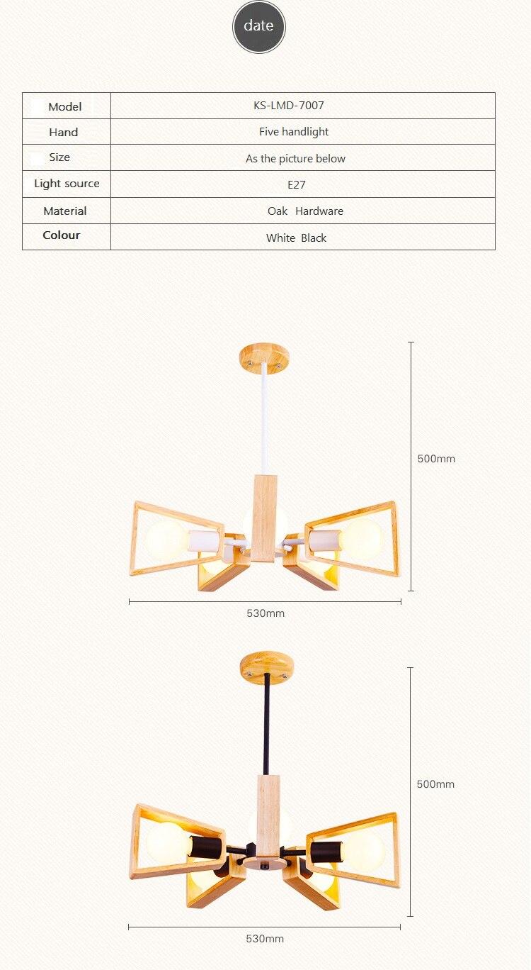 US $82.48 13% OFF|Nowoczesne drewniane lampy wiszące Lamparas drewna wisiorek lampa sufitowa oprawa lampy sufitowe Deco restauracja światła Cafe