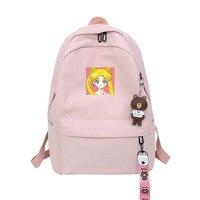 Casual Sailor Moon Women Backpack Kawaii Girls Luna Cat Schoolbags Teenager Travel Daypack Shoulder Bag Waterproof Back Pack