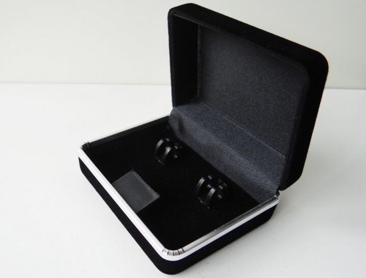 Flocking Cufflinks Tie Clip Boxes Jewelry Storage Organizer Case Cuff Link Package Display Gift Box Holder