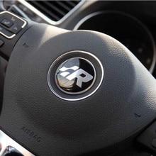 1 шт. Новинка 45 мм R наклейка на руль автомобиля Наклейка украшение для Volkswagen Golf Passat Polo Tiguan CC TT B6 B7