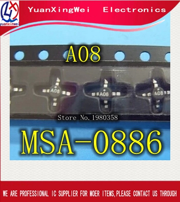 A08 New IC MSA-0886-TR1 MSA-0886 MSA0886 SMT86 10pcs/lot Free Shipping