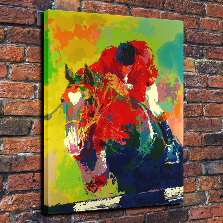 LeRoy Neiman Music and Sports Event Color Print Canvas Painting Living Room Bedroom Home Decor Modern Mural Art Oil Painting#017