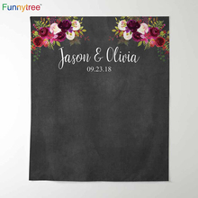 Funnytree photography theme background vintage wedding flowers watercolor blackboard party backdrop photocall new photo prop