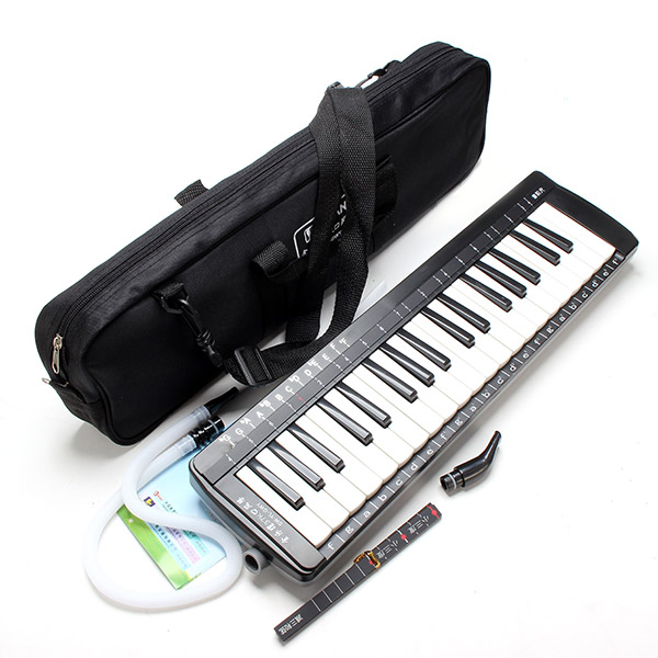 37 Keys Melodica Mouth Organ Piano With Handbag For Student swan 37 keys melodica black color teaching music fundamentals mouth organ melodica musical instruments accordion accessories