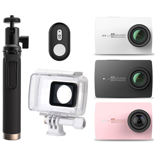 "Original Xiaomi Xiaoyi YI 4K Action Camera 2 Ambarella A9SE 2.19"" 155 Degree 12MP Sports Camera EIS LDC [International Edition]"