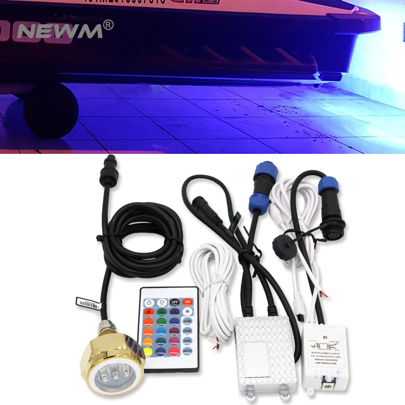 RGB Color Change led Underwater Lights for Yacht High Quality 27W LED Marine Light IP68 Underwater Marine Yacht Boat Drain Light