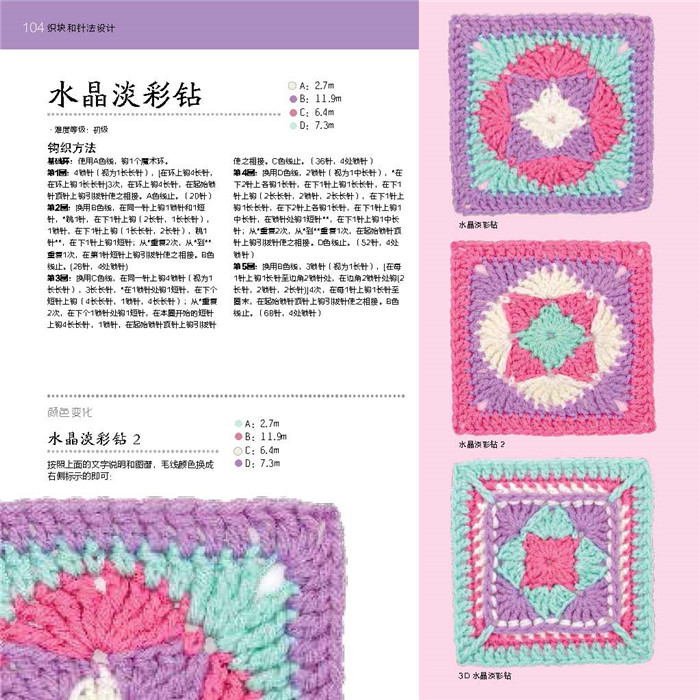 Grandmother Grid Pattern 100 Knitting Book In Books From Office